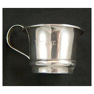 Vintage Sterling Silver Child's / Baby's Cup ~ Bobbie