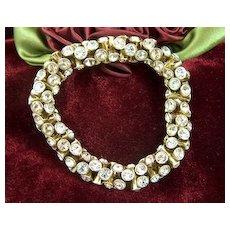 Vintage and Gorgeous Rhinestone Cloth Elastic Stretch Bracelet