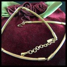 Vintage signed MONET Long Link Gold Toned Necklace
