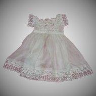 """Exquisite 19th century toddler's dress (perfect for 30"""" doll)"""