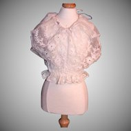 Antique lace doll chemise or corset cover