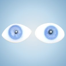 Pair  of Lovely blue antique French PW eyes 12mm