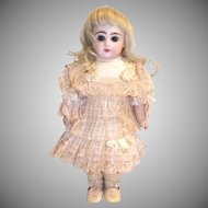 "Cotton and silk antique dress for 9"" doll"