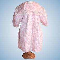 """Antique dress from French bebe's trousseau 22"""""""