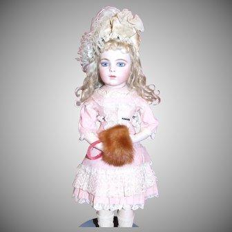 Vintage natural mink muff for doll