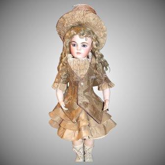 "Antique Silk outfit for 20"" Bru Jne"