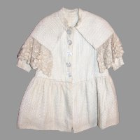Antique cotton coat for large doll or toddler
