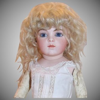 "Antique mohair wig with tails 12"" HC"