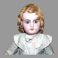 """Antique German mohair wig for character doll 12-3/4"""" HC"""