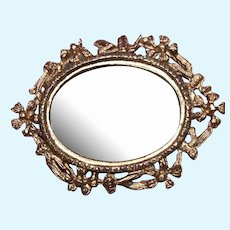 Antique dollhouse mirror, gilt frame