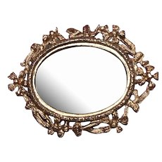 Antique dollhouse mirror, gilt frame