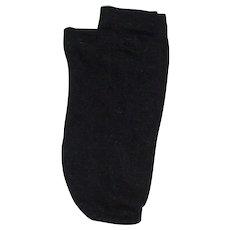 Vintage black silk doll socks