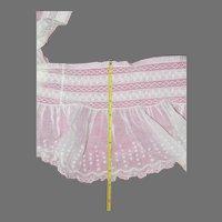 """Antique white cotton voile petticoat remnant 26"""""""