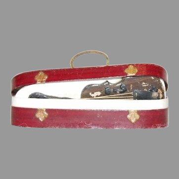 Wonderful antique miniature violin in case