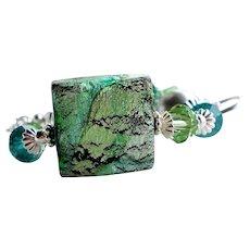 Blue Green Murano Glass Bracelet