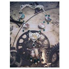 Artisan Steampunk in the Garden Necklace Beauty