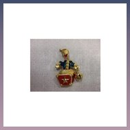Trifari Jack in the Box Trembler Pin