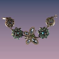 Charm bracelet Modified Repuposed Butterly Bling