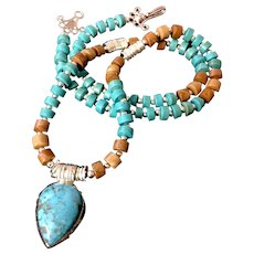 Chalk Turquoise and Agate Necklace