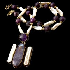 Purple Angel Necklace, 23-3/4 Inches