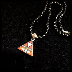 Pyramid Heishi Necklace, 20 Inches