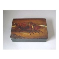 Antique Russian Hand Painted Troika Lacquer Box