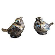 Antique French Sterling Silver Figural Baby Birds Salt and Pepper Shakers, Maker Alexandre Vaguer