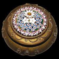 Antique Italian Micro Mosaic Pill Box