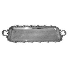 Antique Large Ellis Barker Silver Plate Serving Tray 1906-1912