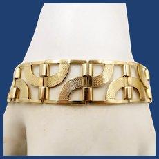 10-12K Gold Waves Link Bracelet 23.3 Grams!