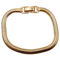Vintage 14K Gold Round Snake 7.25 In. Chain Bracelet 19.7 Grams