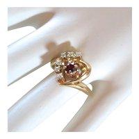 Custom 14k ruby & diamond ring
