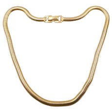 Vintage 14K Gold Round Snake 16 In. Chain Necklace 41.2 Grams