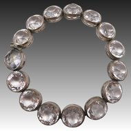 Vintage Art Deco Cut Crystals Bracelet