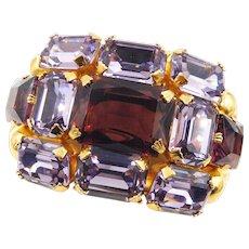 Vintage Dior Couture Purple Rhinestone Bracelet by Henkel Grosse - Red Tag Sale Item