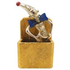 Vintage Florenza Jack in the Box Charm