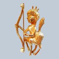 Hobe Sagittarius Zodiac Brooch