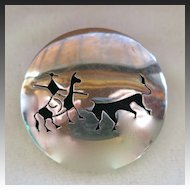 JLA Mexican Sterling Silver Matador Pendant Brooch