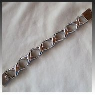 Mexican Sterling Silver X Link Bracelet