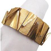 Vintage Gold Tone Modernist Bracelet