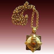 Vintage Patrice Maltese Cross Necklace