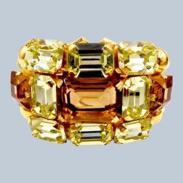 Vintage Dior Couture Topaz Rhinestone Bracelet by Henkel Grosse