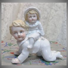 Antique German Porcelain Figurine Children