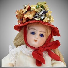 """8"""" Sonneberg Solid-Dome Bisque Doll"""