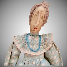 17 inch Primitive Hand-made Cloth Doll