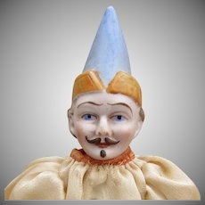 "10"" German Bisque Head Clown"