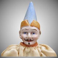 """10"""" German Bisque Head Clown"""