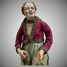 13.5 inch Antique Neapolitan Crèche Woman all original
