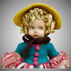 """11"""" Lenci """"La Modestina"""", Google type felt doll"""