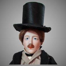 """14"""" French Bisque Art Portrait Gentleman"""